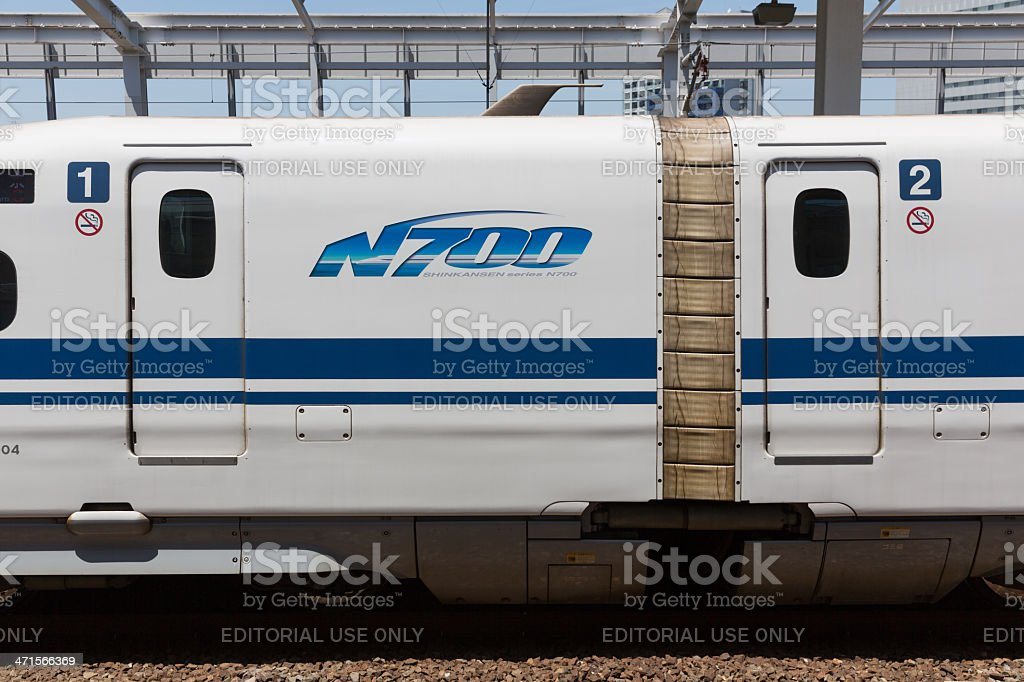 Shinkansen N700 Series in Japan royalty-free stock photo