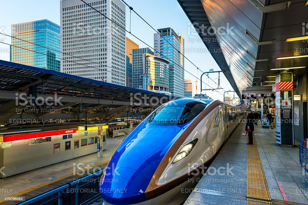 Shinkansen stock photo
