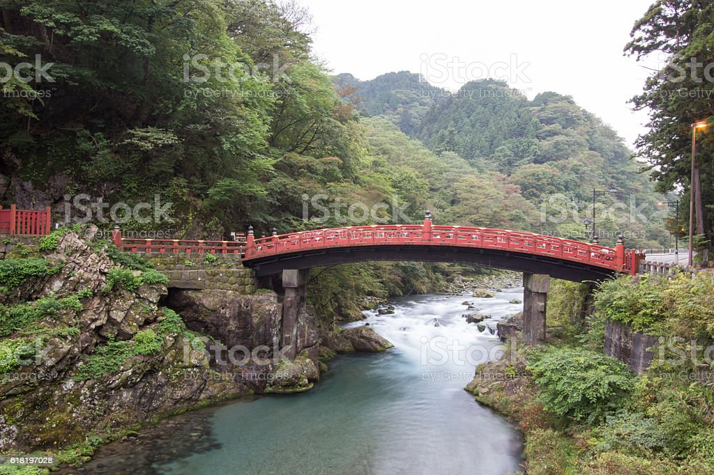 Shinkyo Bridge, Nikko, Japan stock photo