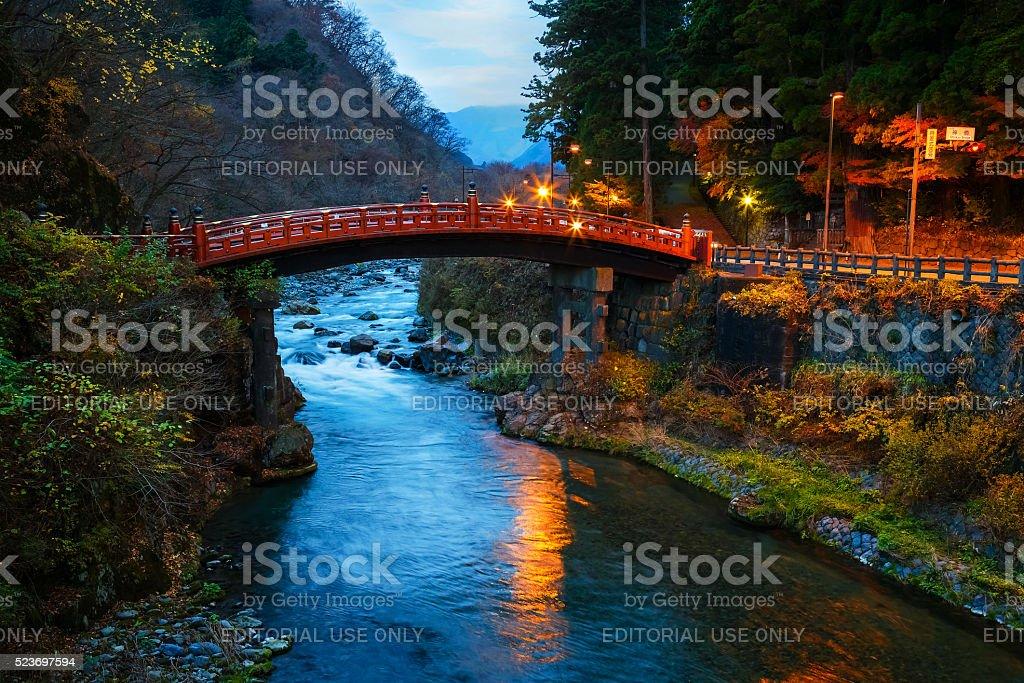 Shinkyo - Sacred Bridge in Nikko, Japan stock photo