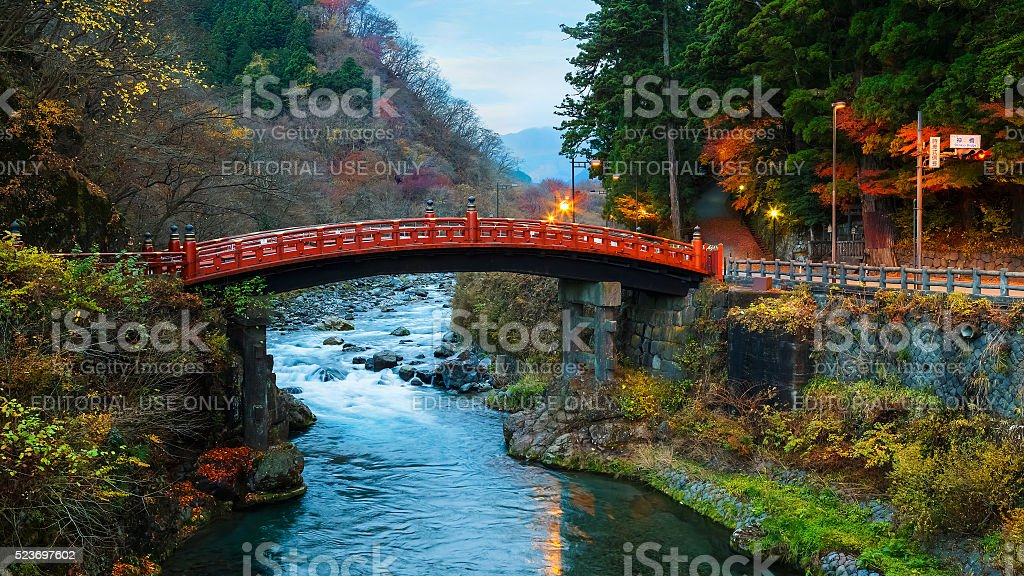 Shinkyo - Sacred Bridge in Nikko, Japan stock photo
