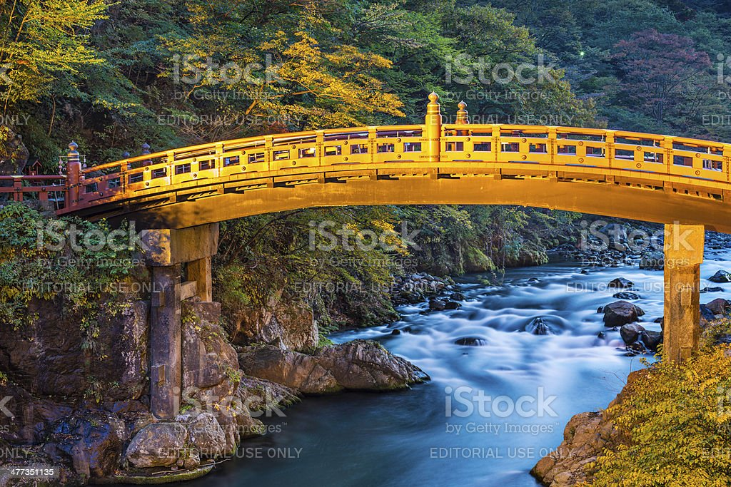 Shinkyo Sacred Bridge stock photo