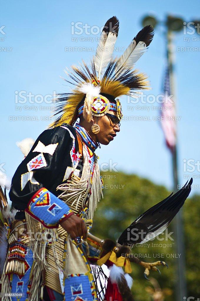 shinnecock nation powow dancer stock photo