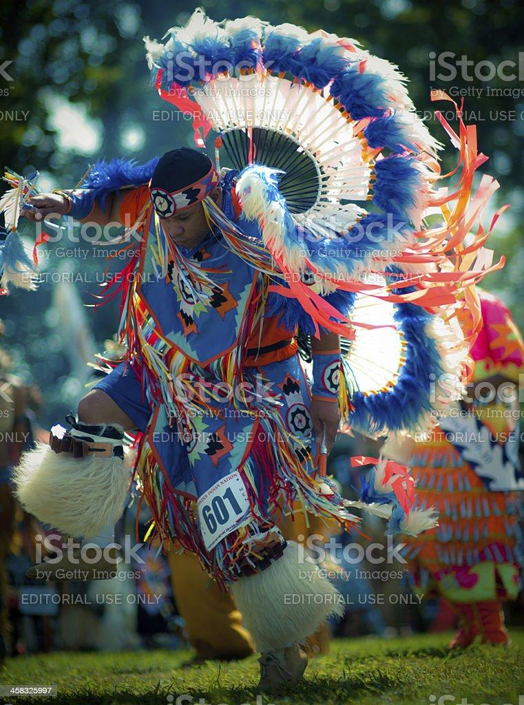shinnecock powwow dancer stock photo