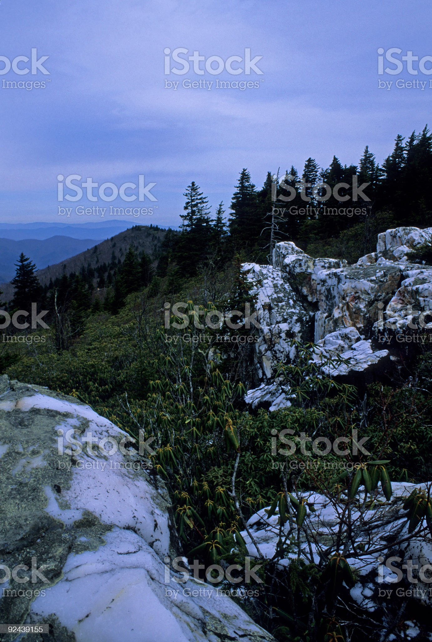 Shinning Rock Wilderness Area, Pisgah National Forest royalty-free stock photo