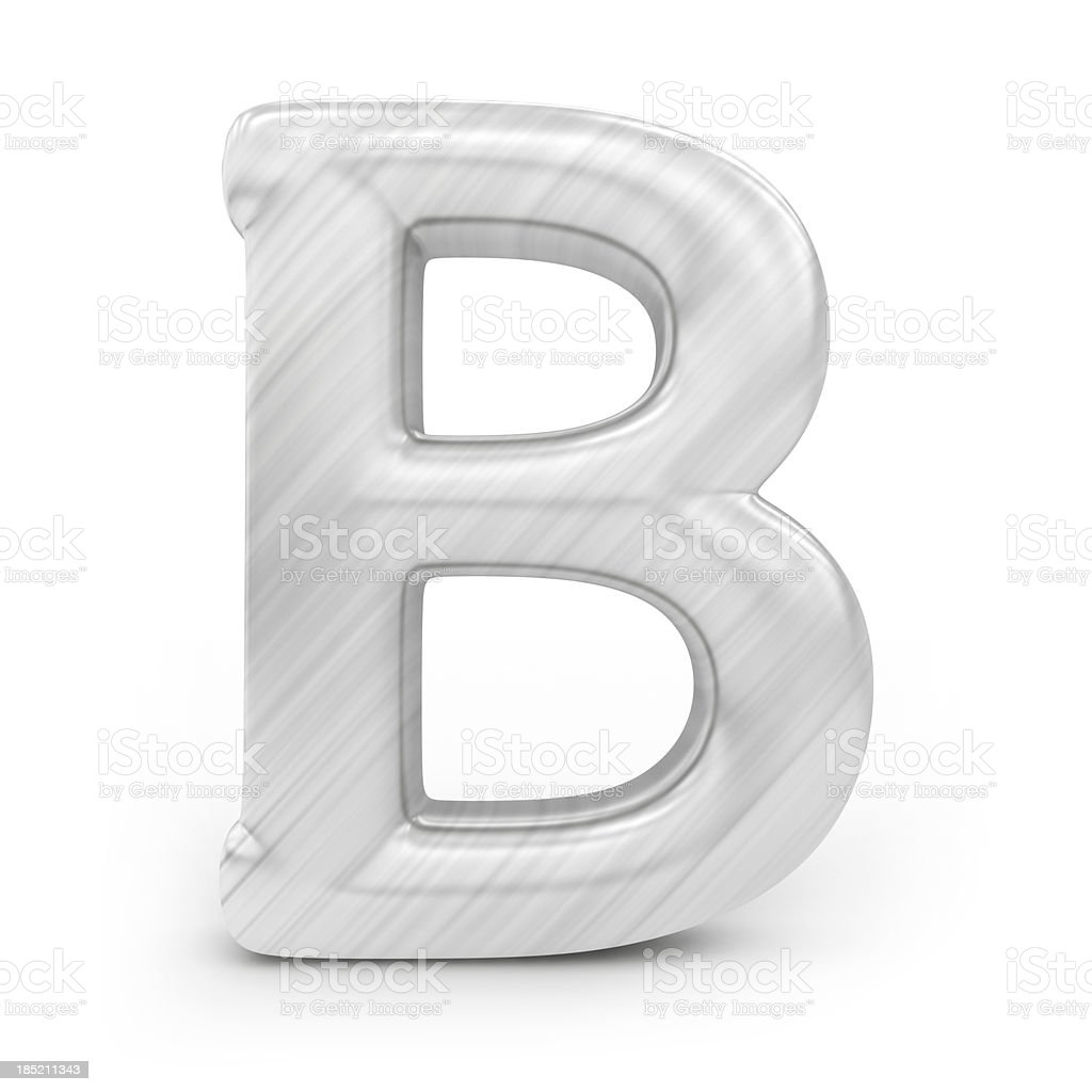 Shiny alphabet - B royalty-free stock photo