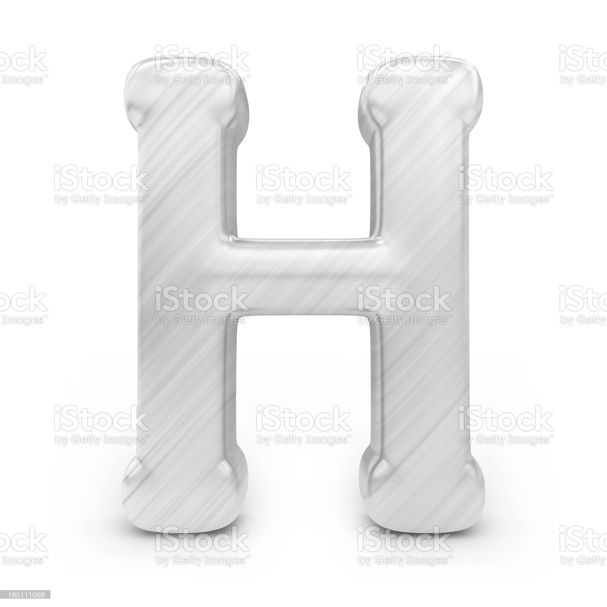 Shiny alphabet - H royalty-free stock photo
