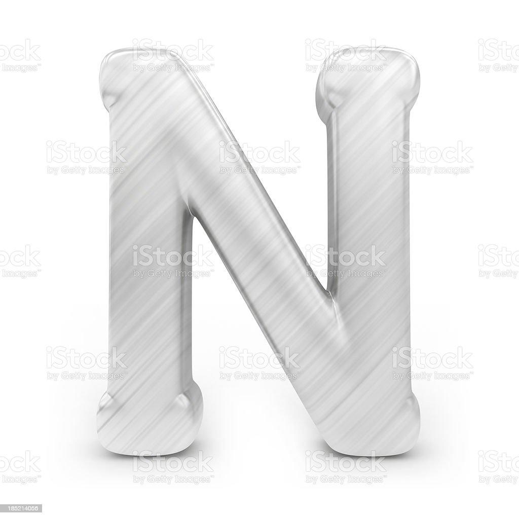 Shiny alphabet - N royalty-free stock photo