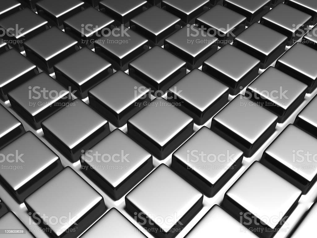 Shiny aluminum square pattern background royalty-free stock photo