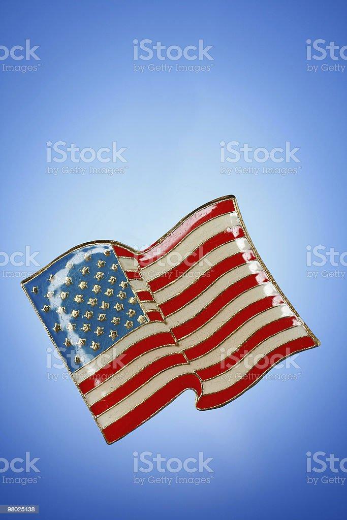 Shiny American Flag royalty-free stock photo