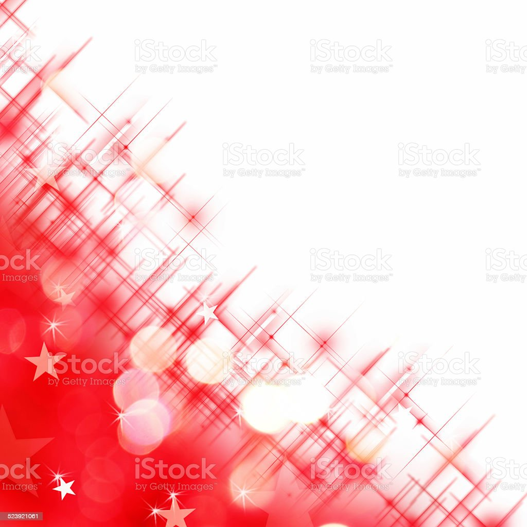 Shiny background of red lights isolated on white background vector art illustration