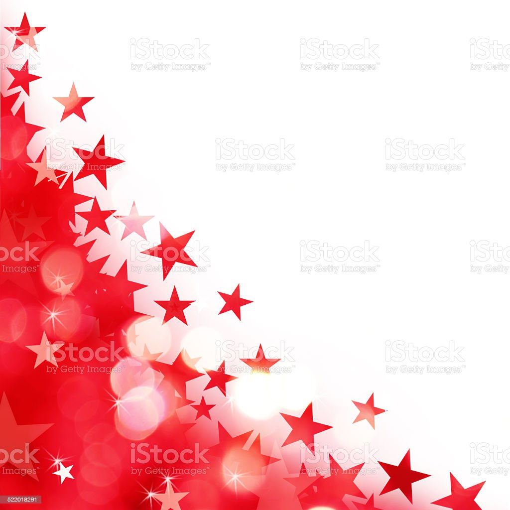Shiny background of red lights with stars vector art illustration