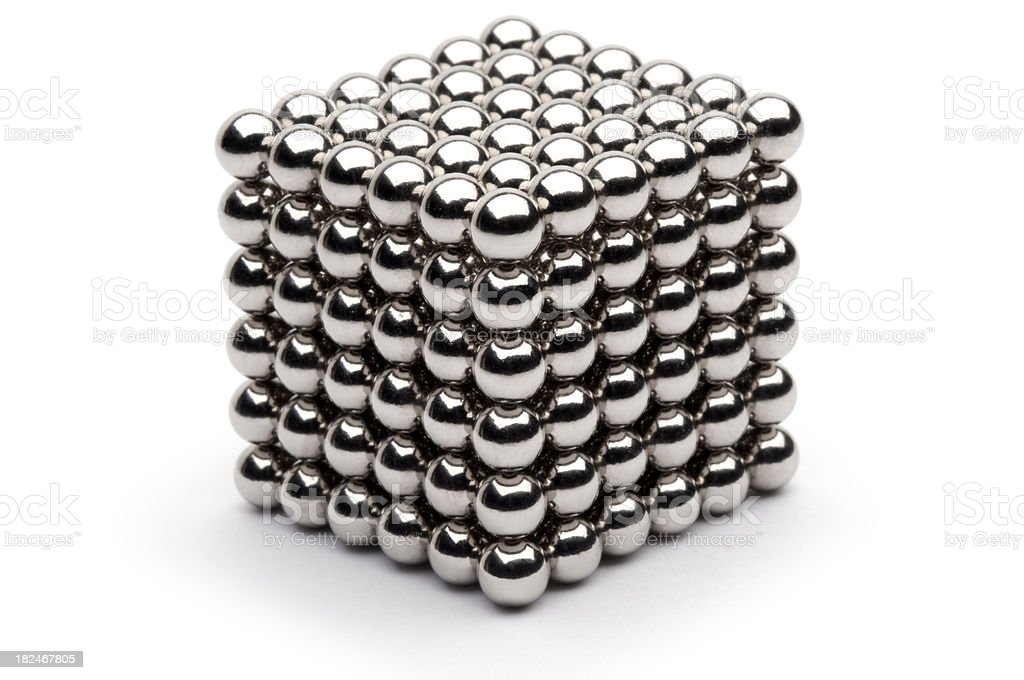Shiny Ball Cube royalty-free stock photo