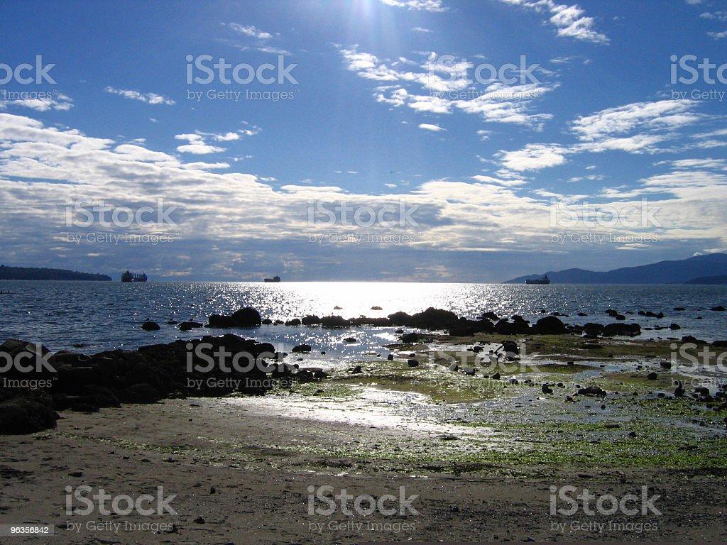 Glänzende beach Lizenzfreies stock-foto
