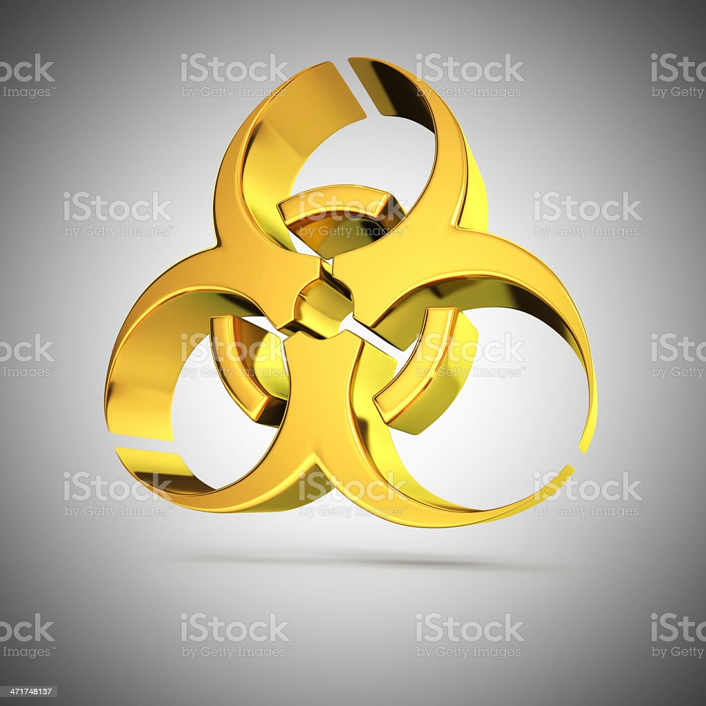 Shiny biohazard royalty-free stock photo
