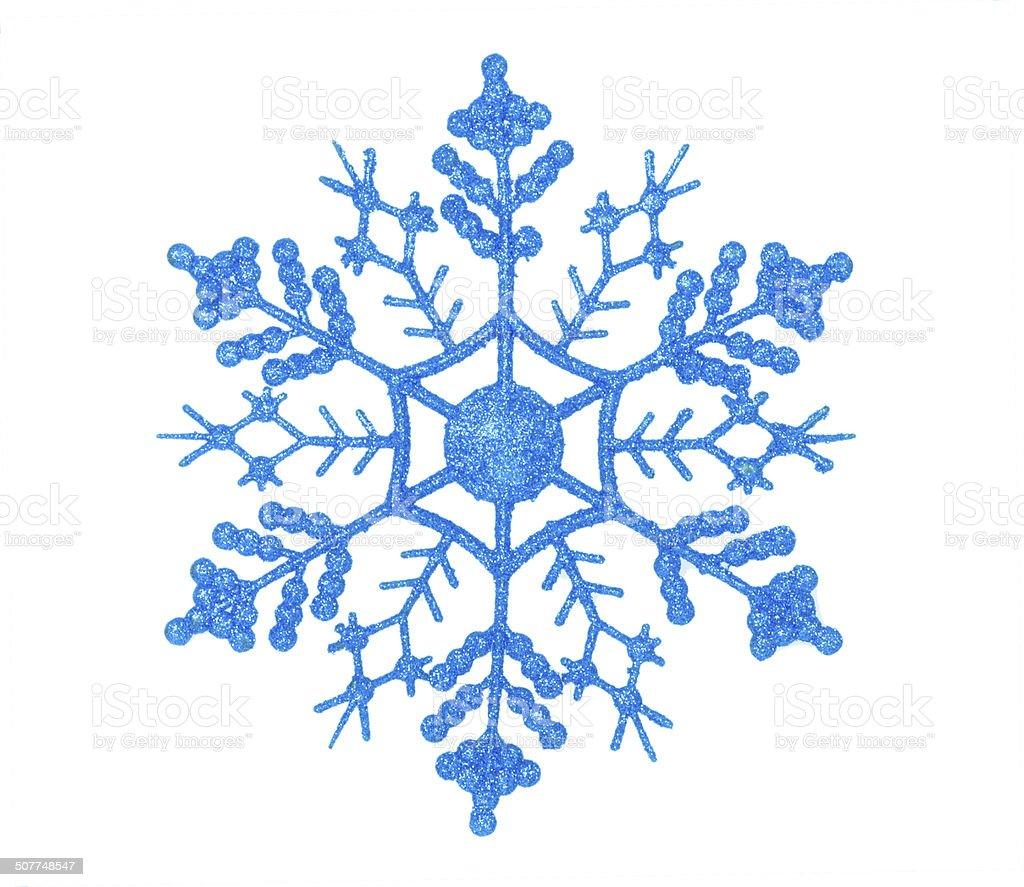 Brilhante azul floco de neve foto royalty-free