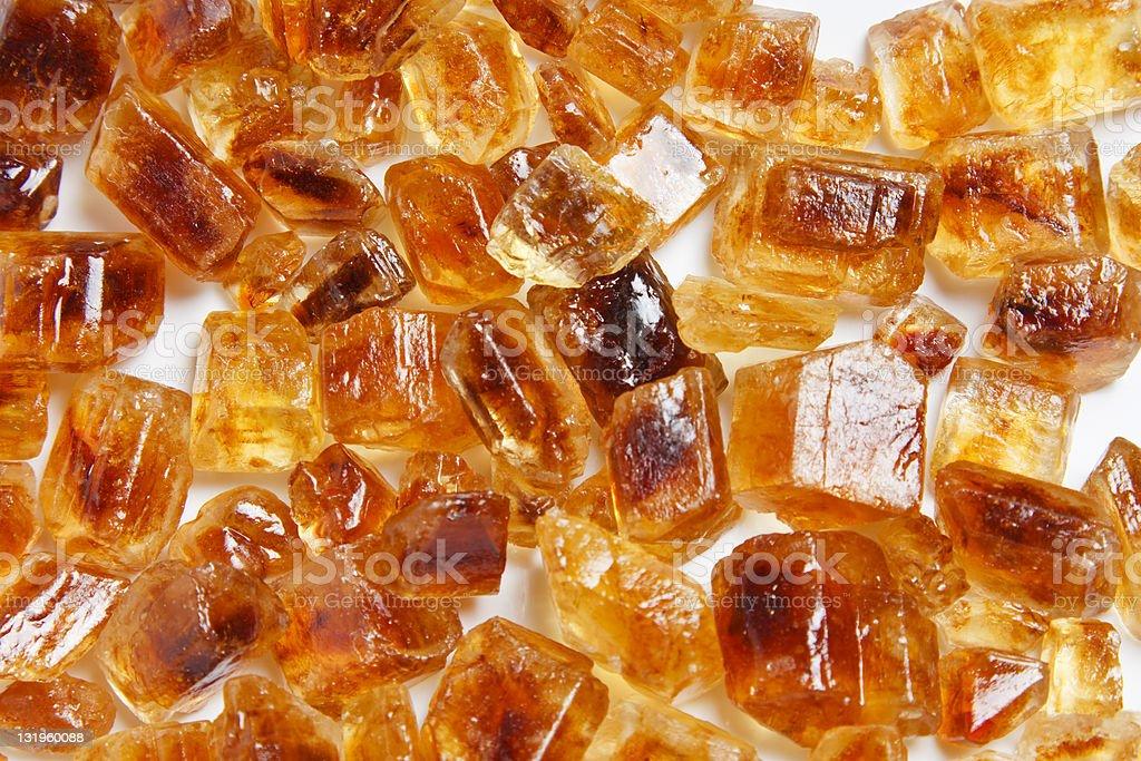 Shiny Brown Sugar Crystals royalty-free stock photo