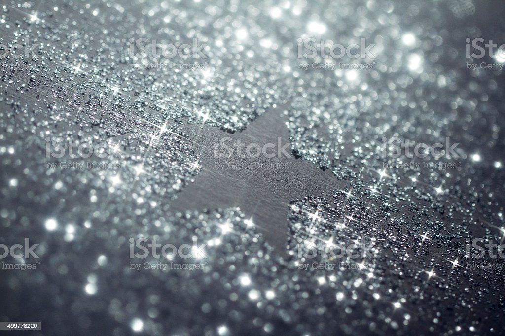 Shiny Christmas Star Glitter Background stock photo