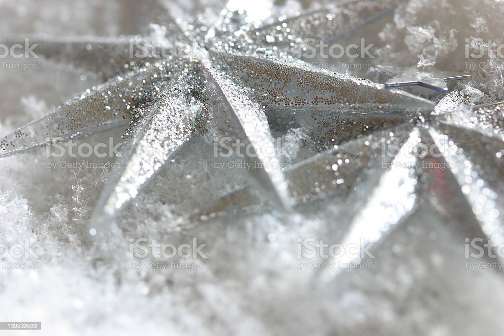 Shiny Christmas star royalty-free stock photo