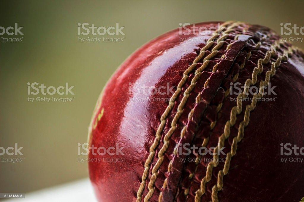 shiny cricket ball stock photo