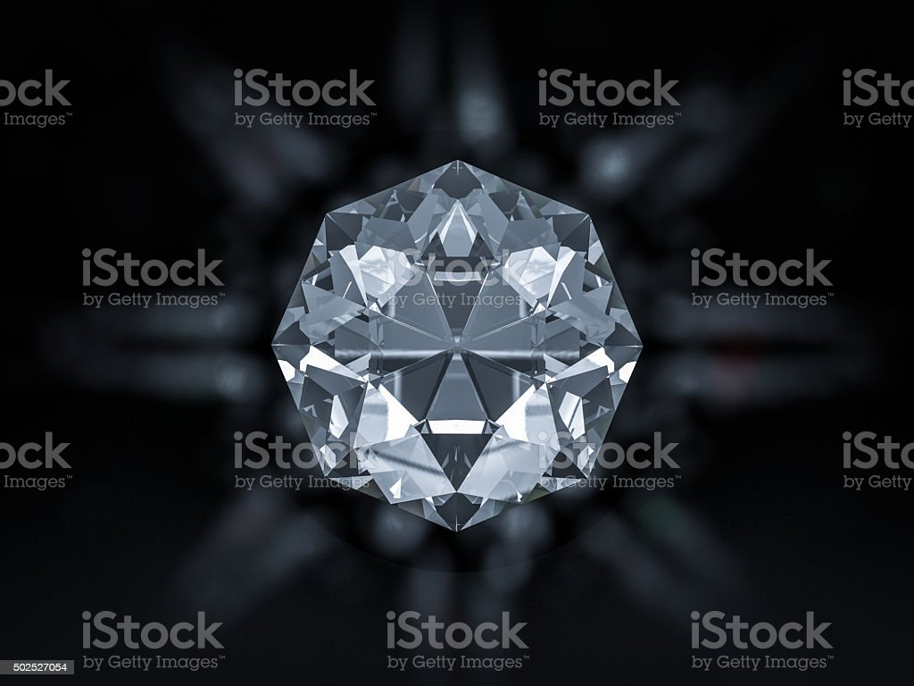 Shiny diamond stock photo