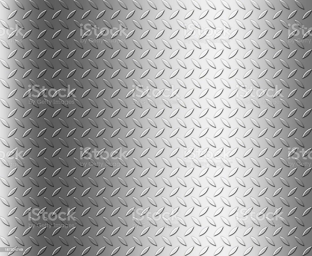 Shiny Diamond steel plate background, copy space stock photo