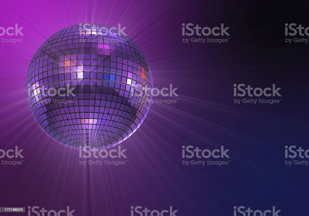 Shiny disco ball stock photo