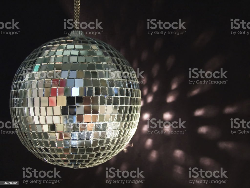 shiny disco ball reflections stock photo