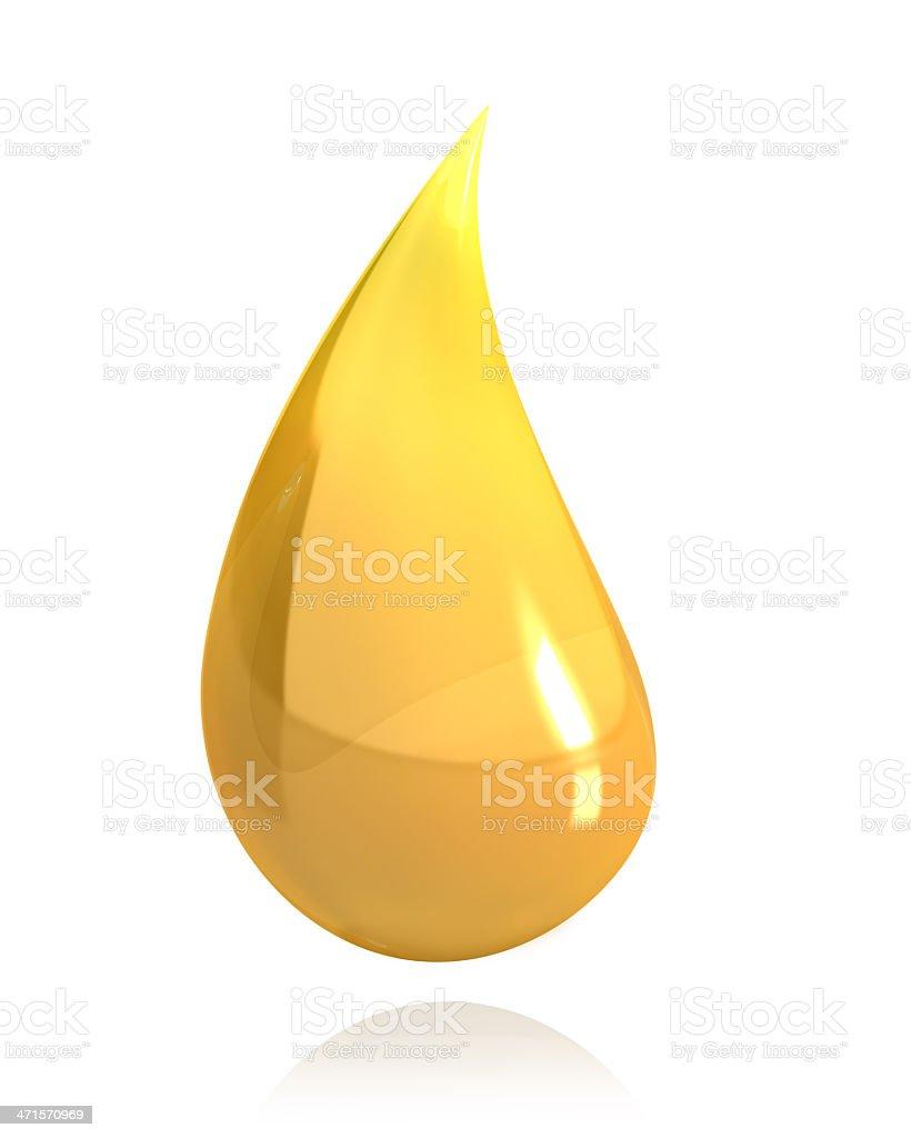 Shiny drop of honey or oil royalty-free stock photo