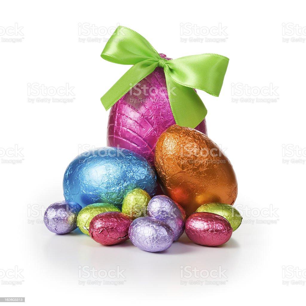 Shiny Easter eggs royalty-free stock photo