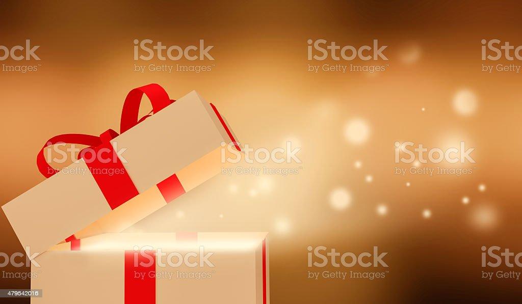 Shiny Gift box. stock photo
