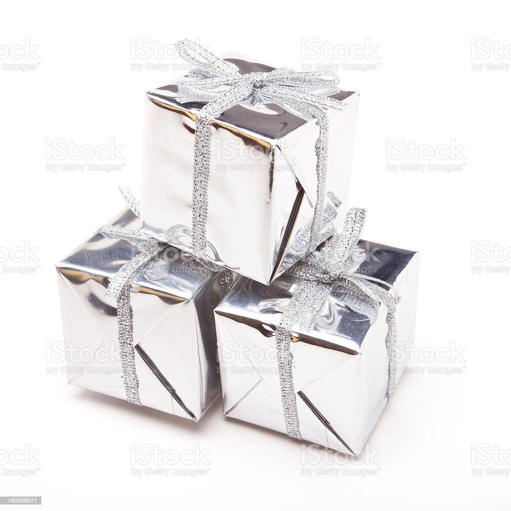 Shiny Gift Boxes royalty-free stock photo