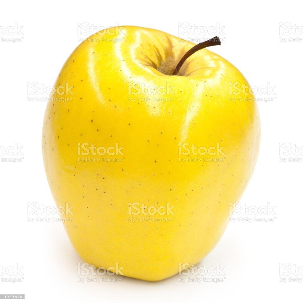 Shiny Golden Delicious Apple stock photo