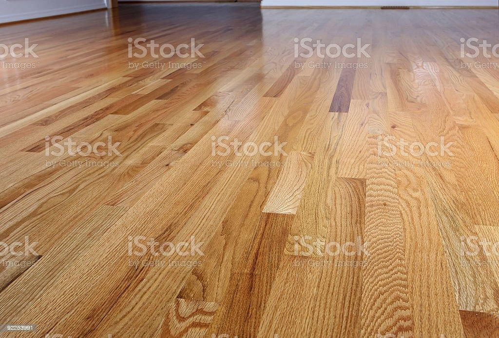 Shiny Hardwood Floors stock photo