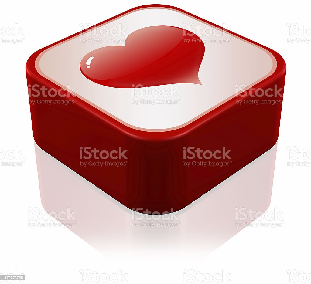 Shiny hearts Icon stock photo