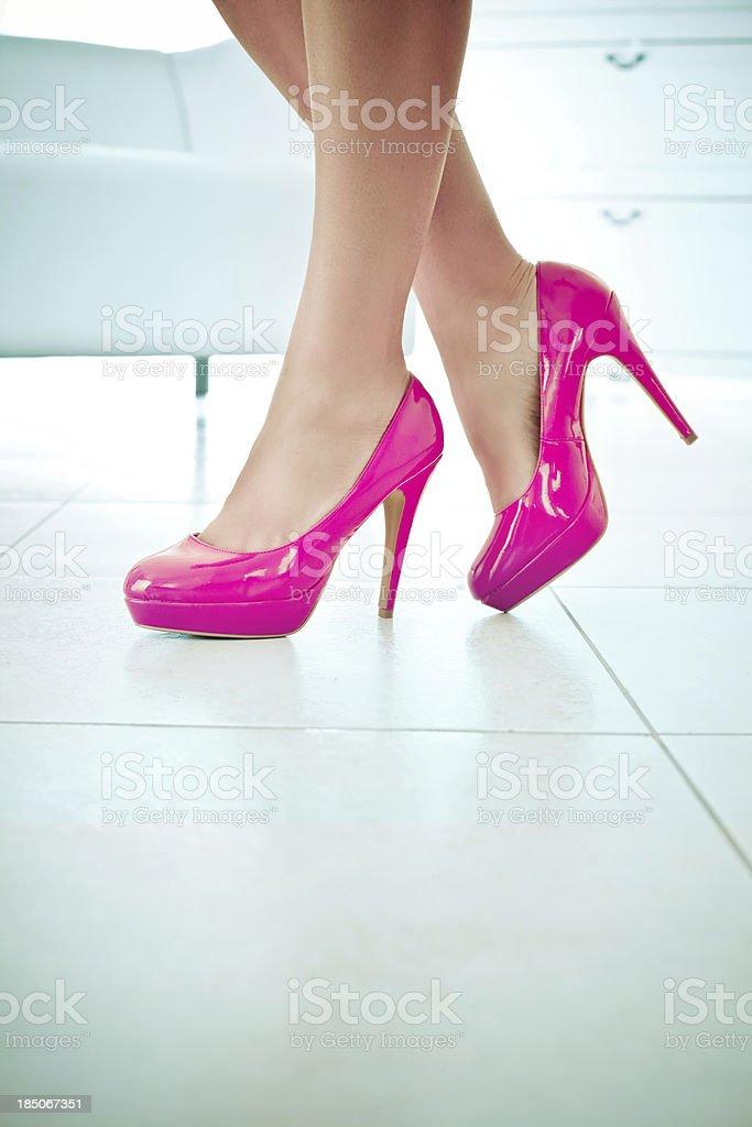 Shiny high heels royalty-free stock photo