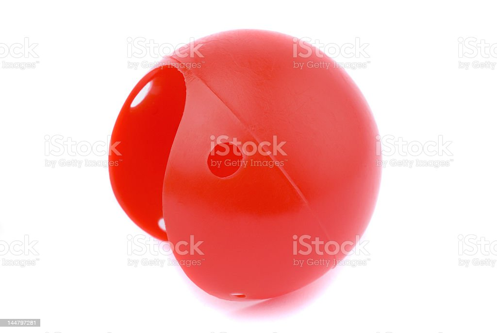 Shiny illustration of a red clown nose stock photo