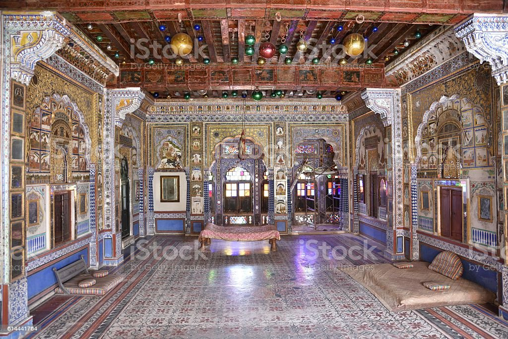 Shiny interiors Mehrangarh Fort stock photo