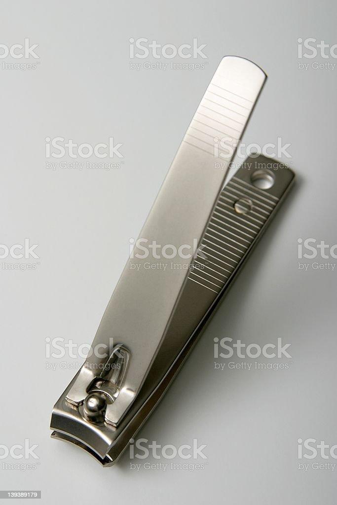 shiny large toenail clippers stock photo