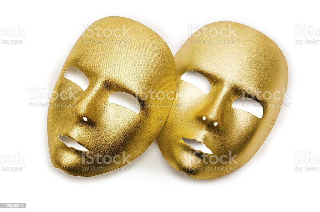 Shiny masks isolated on white background royalty-free stock photo