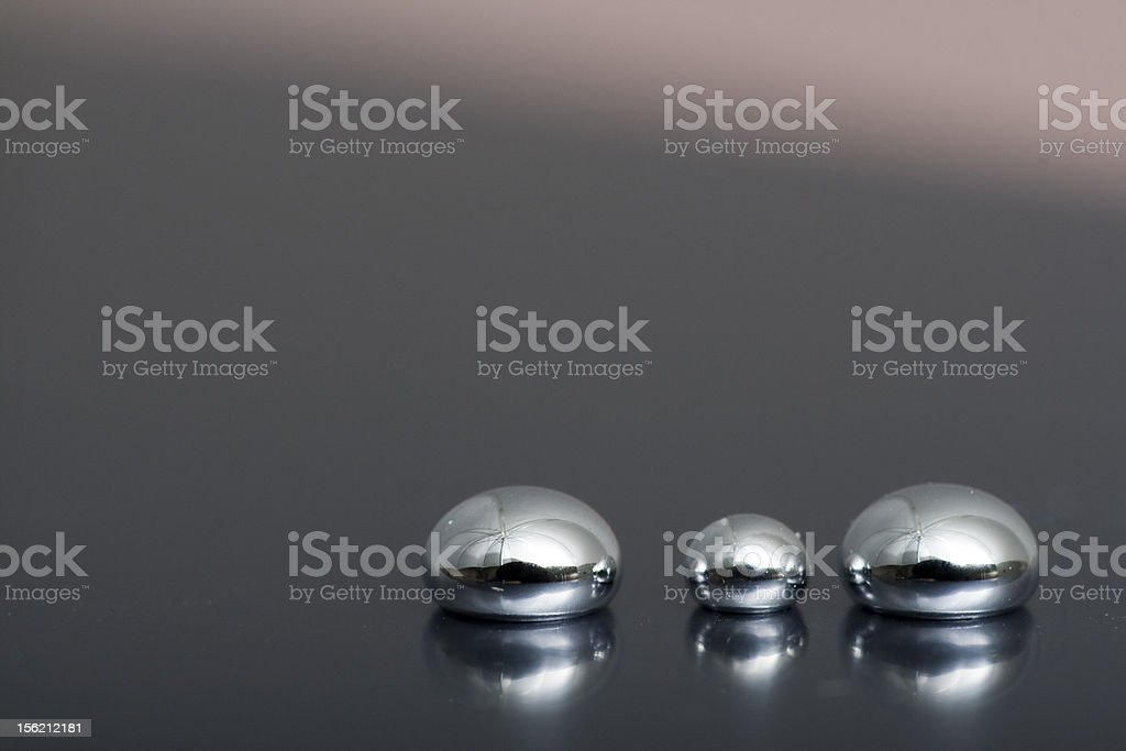 Shiny Mercury stock photo