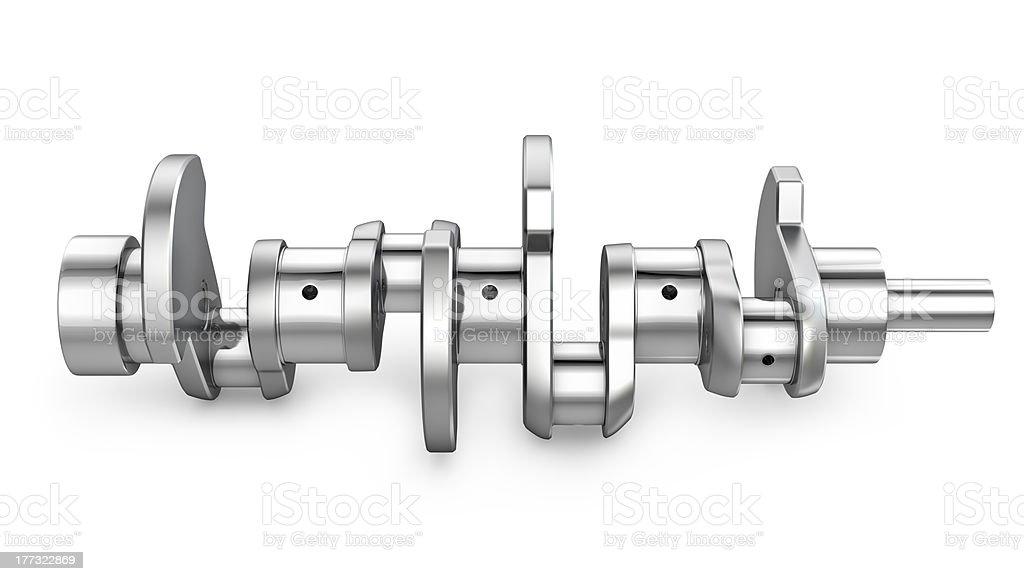 Shiny metal crankshaft stock photo