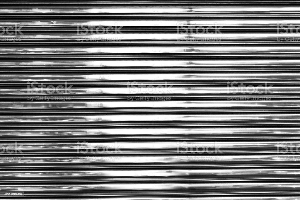 Shiny metal wall stock photo