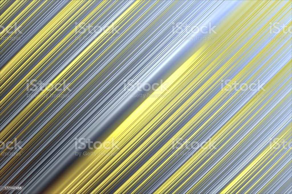 Shiny metallic lines background - diagonal, yellow and silver. royalty-free stock photo