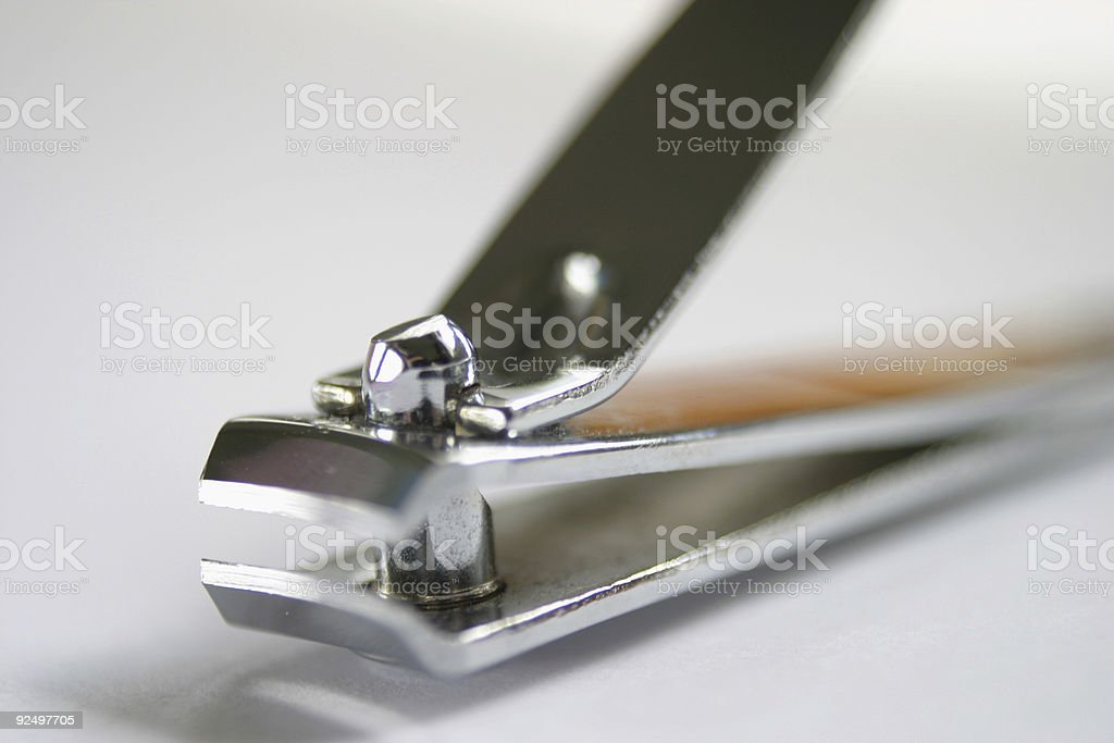 Shiny nail clippers stock photo