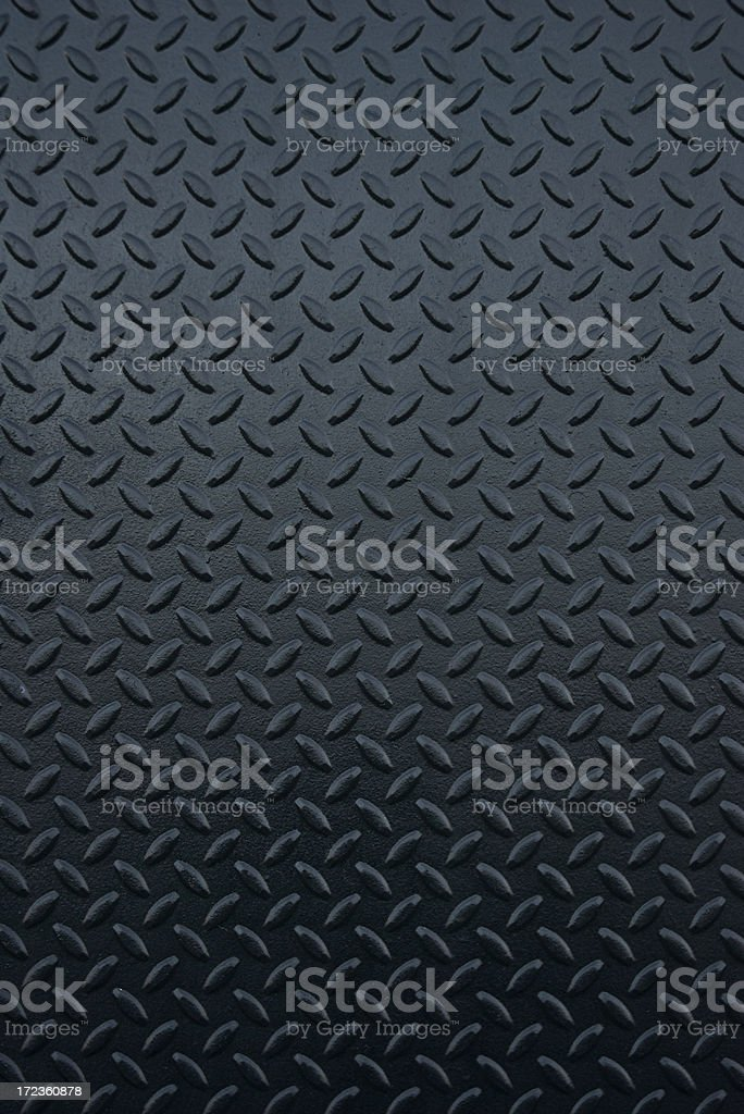 Shiny New Industrial Black Steel Tread Full Frame Background stock photo