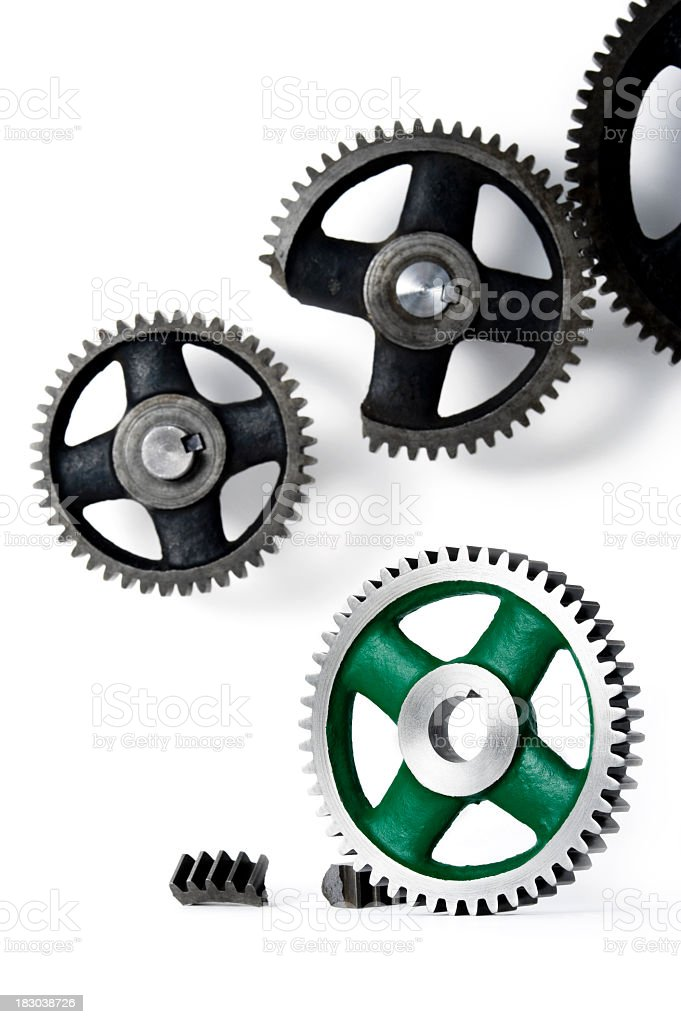 Shiny new replacement gear royalty-free stock photo