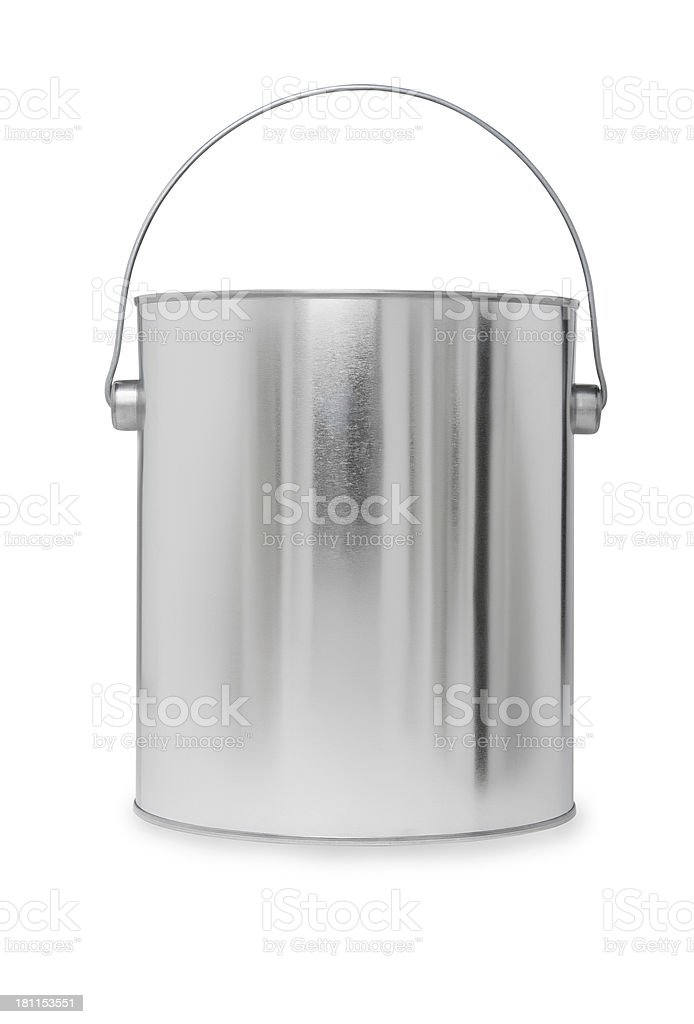 Shiny Paint Can with Handle stock photo