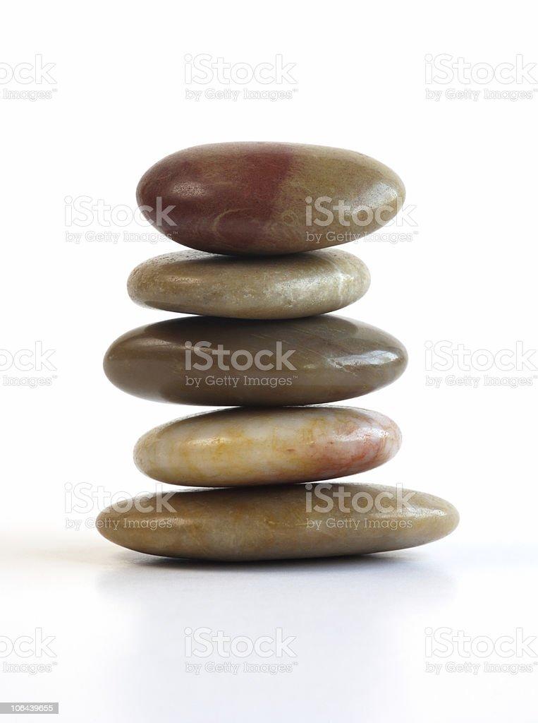 Shiny pebble stack stock photo