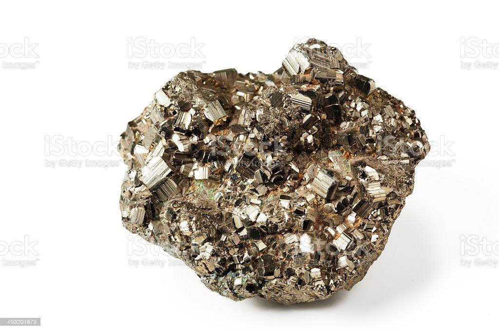 Shiny pyrite stock photo